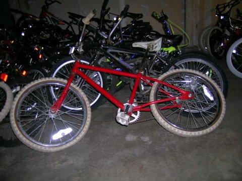 Red HBD Bike Pre-Clean