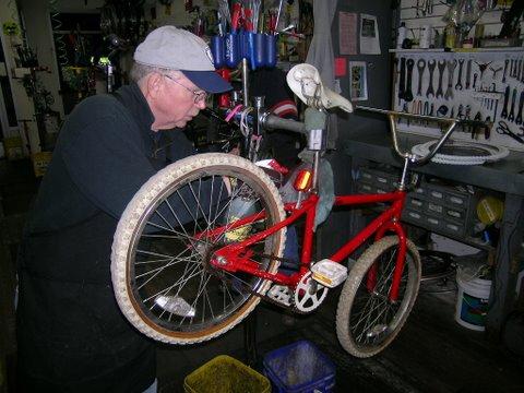 HBD Bike Red Cleaned