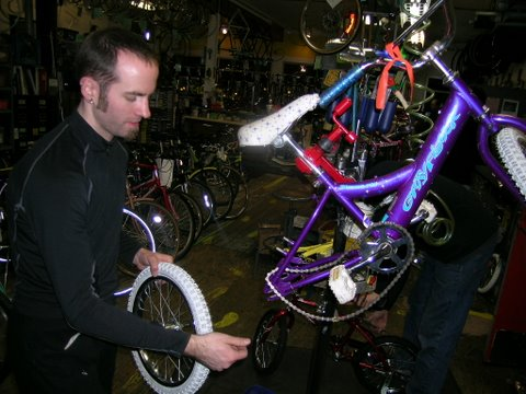 HBD Purple Bike repair