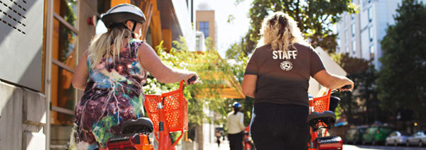 Walking during BIKETOWN for All workshop