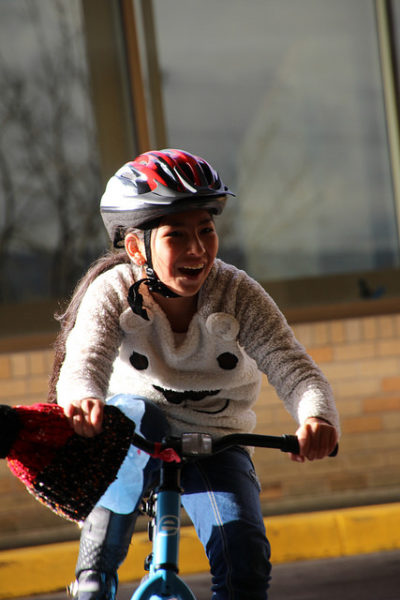 Young rider on Bike Rodeo